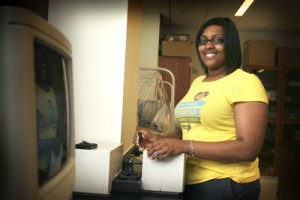 an undergraduate working on a summer research project
