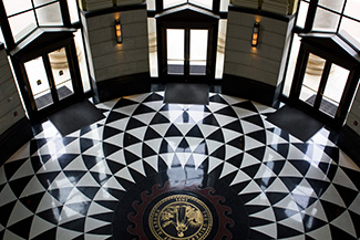 Shelby Hall's foyer