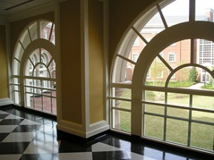 view from Shelby Hall windows