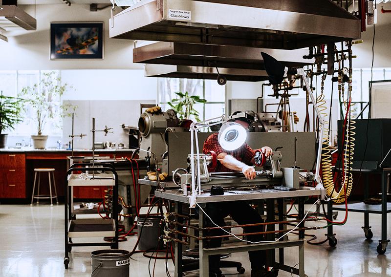 glassblowing shop
