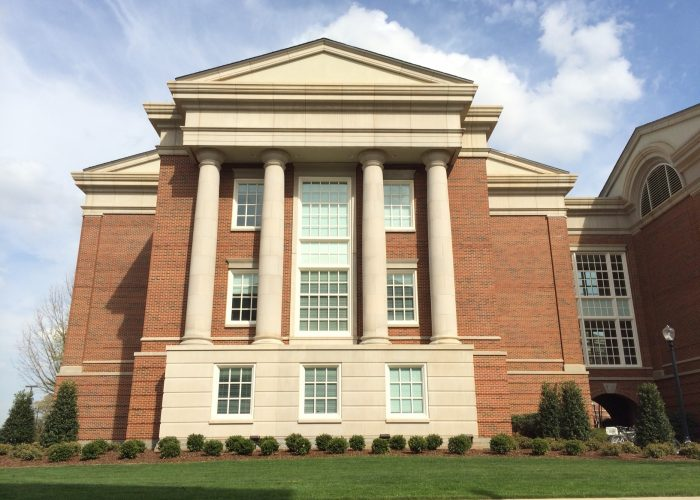 side of Shelby hall
