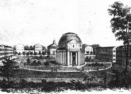 Sketch of the original campus