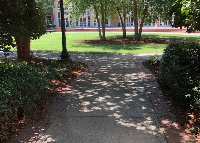 Shelby hall courtyard